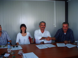 CONTRACT WITH GEOPLANT VIVAI FROM ITALY ( MR KARIPIDIS LAMPRIANOS - MRS TSECHELIDOY  HARA - MR SECONDO DANESI - MR GIANLUCA PASI ).