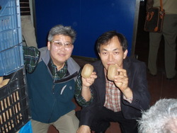 Mr Lee and mr Sung from NZ Orchard.
